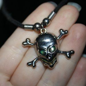 Moon color changing skull necklace adjustable